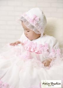 ピンクリボンの白いドレスで… ハーフバースデーおめでとうございました!