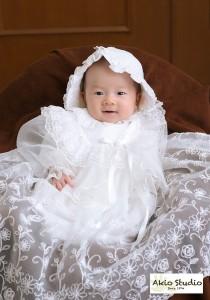 こころちゃんの初宮参り ドレスでステキににこっ!