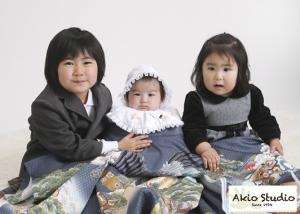 かわいい3姉弟さんでした!楽しかったですね! 初宮参り男の子