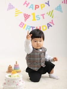 Kくん、1才のお誕生日おめでとうございます☆