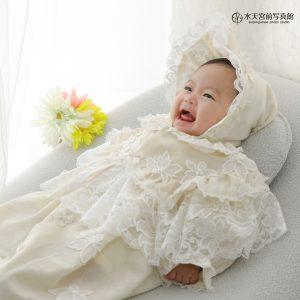 お持込のドレスはなんと…♡お宮参りおめでとうございます!