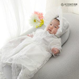 まるで白いお花の妖精さん♡お宮参りおめでとうございます!