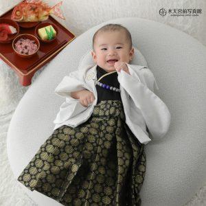 お支度中からニコニコさん♪お宮参り・お食い初めおめでとうございます!