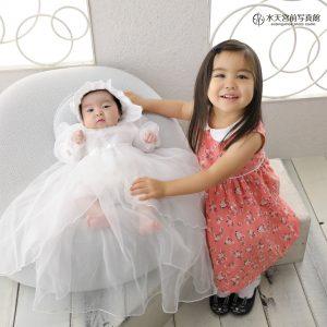 微笑ましいご姉妹さま♡お宮参りおめでとうございます!